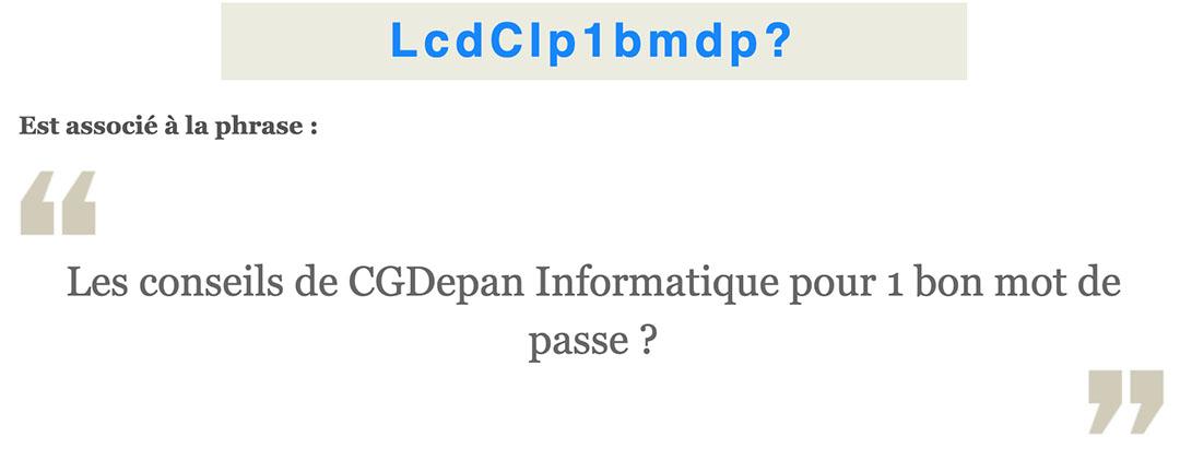 Exemple de mot de passe sécurisé CNIL